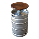 Beer Keg Bar Stool