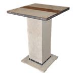 Industrial Concrete Highboy Table