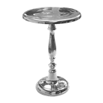 Round Chrome End Table