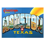 Oversized Houston Postcard