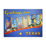 Oversized Dallas Postcard