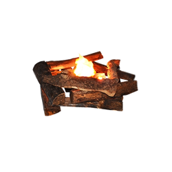 Faux Fire with Logs