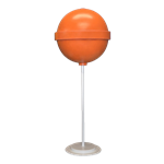 Orange Round Lollipop Giant Candy