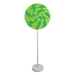 Green and Lime Green Swirl Lollipop Giant Candy