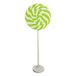 Lime Green Swirl Lollipop Giant Candy