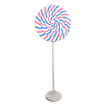 Blue and Pink Swirl Lollipop Giant Candy