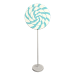 Teal Swirl Lollipop Giant Candy