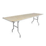 "8' x 30"" Folding Banquet Table"