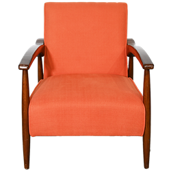 Orange Mid-Century Modern Chair