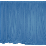 Blue Drape Panel 9' Long
