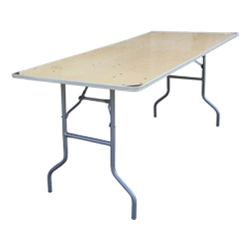 "6' x 30"" Folding Banquet Table"