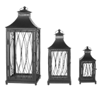 Set of (3) Black Lanterns
