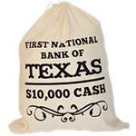 First National Bank of Texas Cash Bag