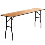 "6' x 18"" Folding Banquet Table"