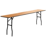 "8' x 18"" Folding Banquet Table"