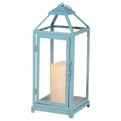 Turquoise Battery Operated Lantern