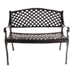 Woven Wrought Iron Bench