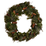 5' Pine Wreath with Pinecones