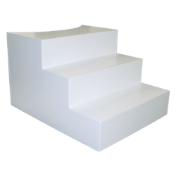White Steps for 4' Round Platform