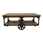 Iron Wheel Coffee Table