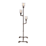 Steel Pipe Floor Lamp - 3 Bulbs