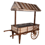 Distressed Flower Cart