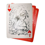 Set of (3) Flying Cards - Alice