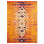 Distressed Oriental Rug - Orange