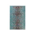 Distressed Oriental Blue Rug 5' x 7'