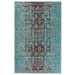 Distressed Oriental Blue Rug 8' x 11'
