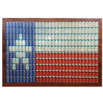 Beer Can Texas Flag