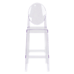 Ghost Bar Stool with Back