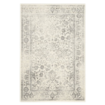 Distressed Floral Rug - Ivory 5 x 7