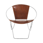 Leather Ring Chair - Brown