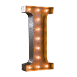 Vintage Marquee Letter - I