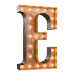 Vintage Marquee Letter - E