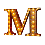 Vintage Marquee Letter - M