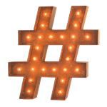 Vintage Hashtag Marquee