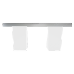 Mirrored Column Table - White