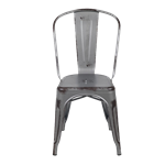 Distressed Gunmetal Bistro Chair