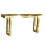 Gold Mirrored Communal Table