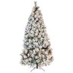 9' Flocked Lighted Tree