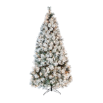 7' Flocked Lighted Tree
