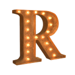 Vintage Marquee Letter - R