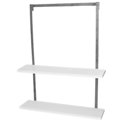 Hanging White Shelves