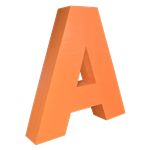 Oversized Letter A