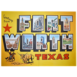 Oversized Fort Worth Postcard