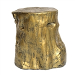 Gold Tree Stump Table/Stool
