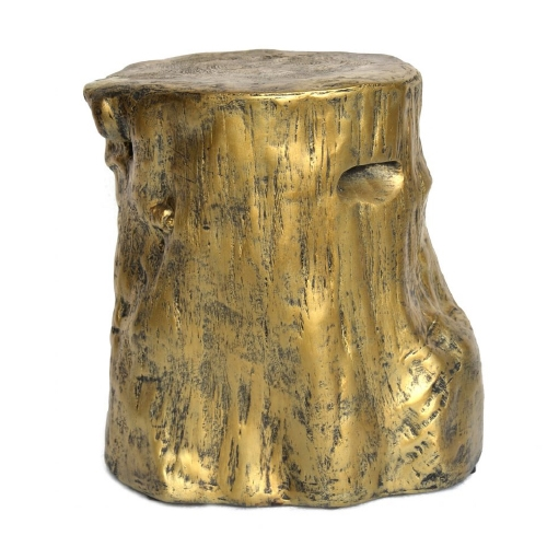 Gold Tree Stump Table Stool