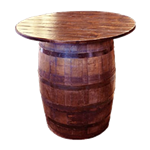 Whiskey Barrel Highboy Table